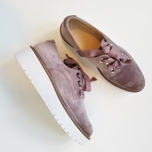 Zara Woman Lilac Velvet Loafer Size 9